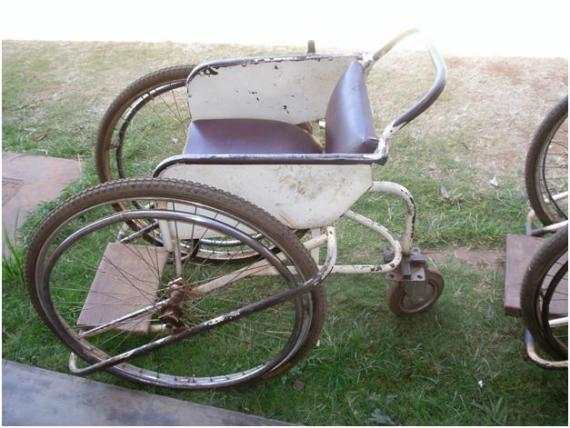 AIDS Center wheelchair with old tires
