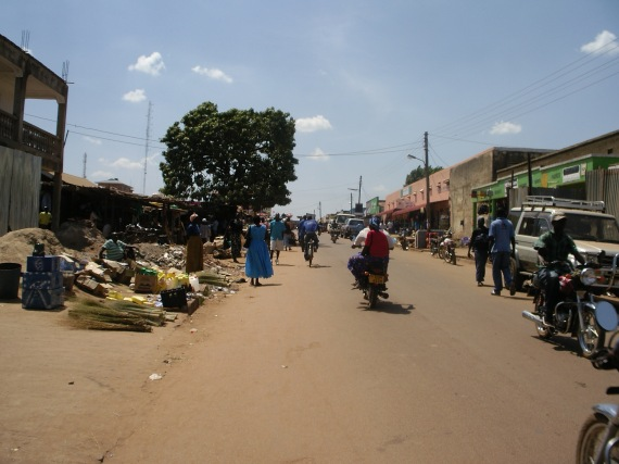 wide view of market in Uganda