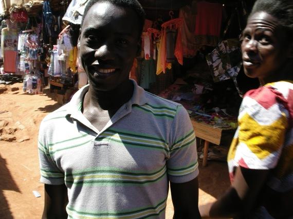 People in Uganda market