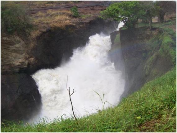 Murchison falls rushing